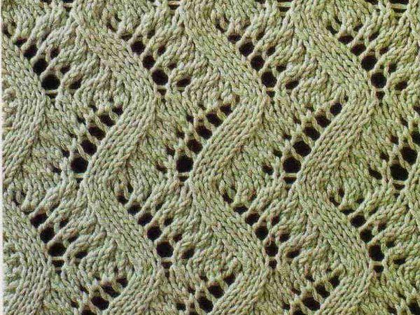 Вяжем спицами узор «Райские перья»   Ярмарка Мастеров - ручная работа, handmade