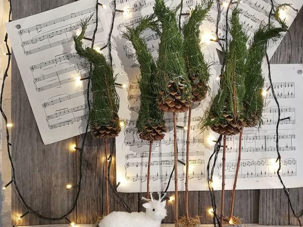 Делаем новогодний сувенир «Стильная елочка» | Ярмарка Мастеров - ручная работа, handmade