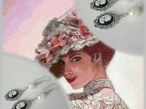 Анонс! Серьги с жемчугом Незнакомка от Olga Gardenia   Ярмарка Мастеров - ручная работа, handmade