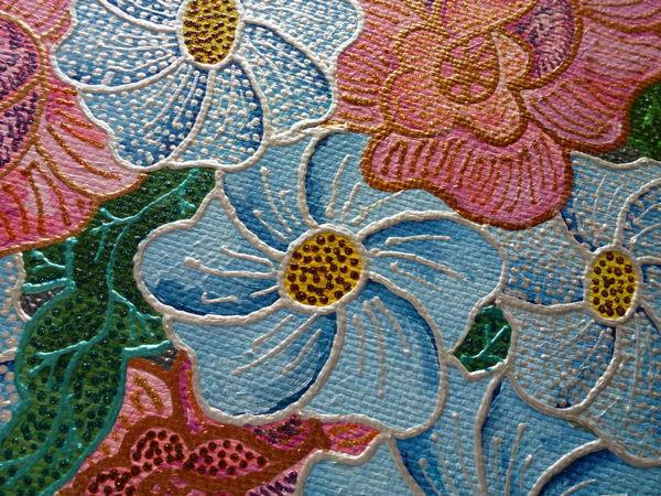 Видео к работе Картина холст масло Декоративные цветы 40х60см | Ярмарка Мастеров - ручная работа, handmade