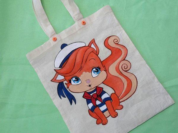 Детская пляжная эко-сумка