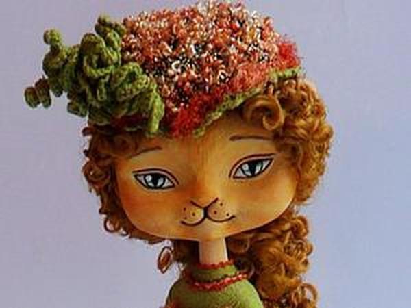 Создание сувенирной куклы-кошечки. Часть 2: расписываем мордочку и лапки   Ярмарка Мастеров - ручная работа, handmade