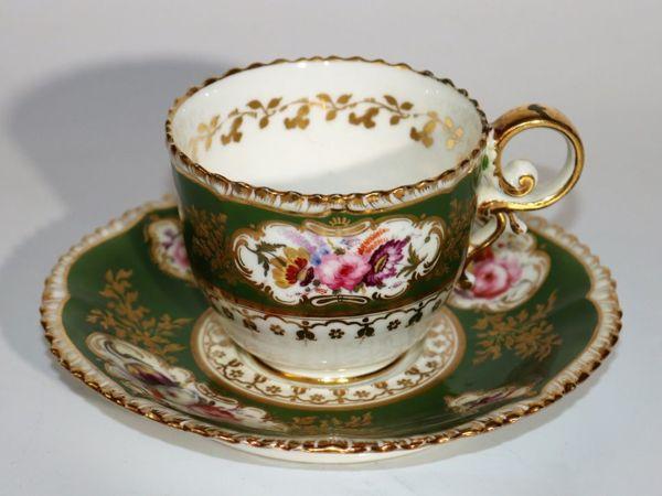 Старинная чайная пара, «Coalport» , Англия, 1820 г   Ярмарка Мастеров - ручная работа, handmade