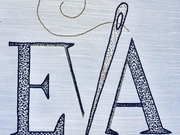 Вышивка логотипа Школы | Ярмарка Мастеров - ручная работа, handmade