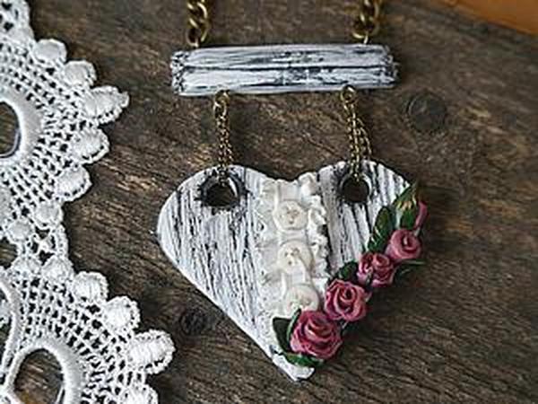Создаем сердечки в стиле шебби-шик из полимерной глины | Ярмарка Мастеров - ручная работа, handmade