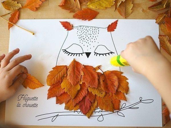 Творим с детьми: идеи простых поделок из листьев | Ярмарка Мастеров - ручная работа, handmade