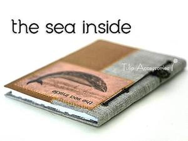 Мастер-класс: создаем блокнот с морем внутри | Ярмарка Мастеров - ручная работа, handmade