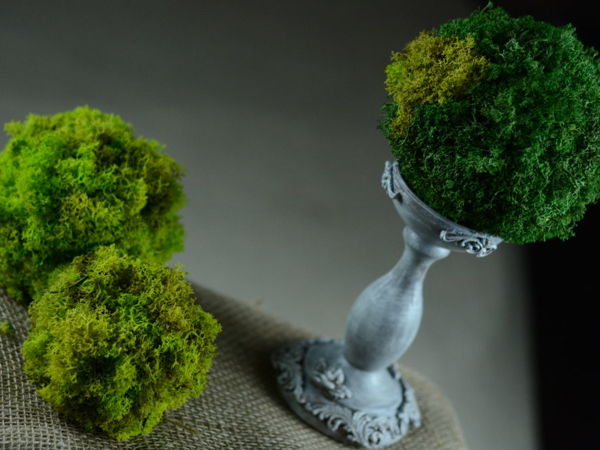 How to Decorate Candles with Stabilized Moss | Livemaster - handmade