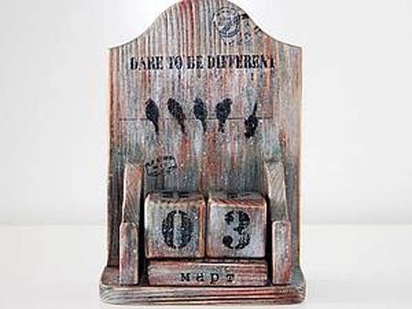 Мастер-класс: вечный календарь в стиле «лофт» | Ярмарка Мастеров - ручная работа, handmade