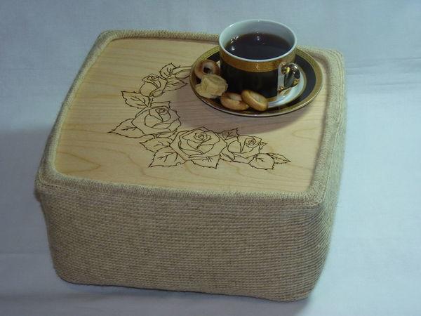 Мастерим оригинальный столик на подушке «Чайные розы» | Ярмарка Мастеров - ручная работа, handmade