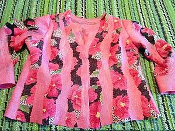 Валяние розового жакета | Ярмарка Мастеров - ручная работа, handmade