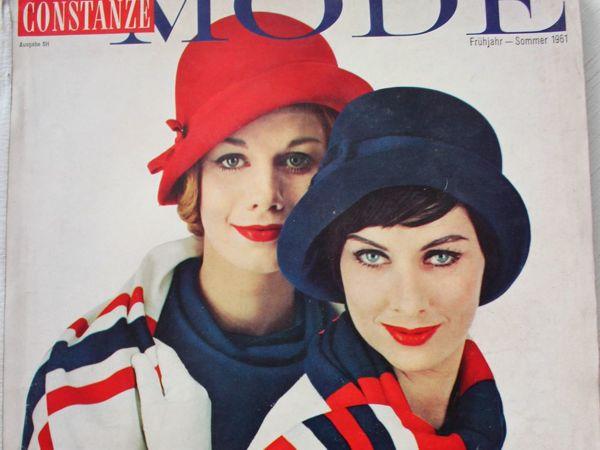 Constanze -mode -старый журнал мод из Германии -Весна- Лето 1961   Ярмарка Мастеров - ручная работа, handmade