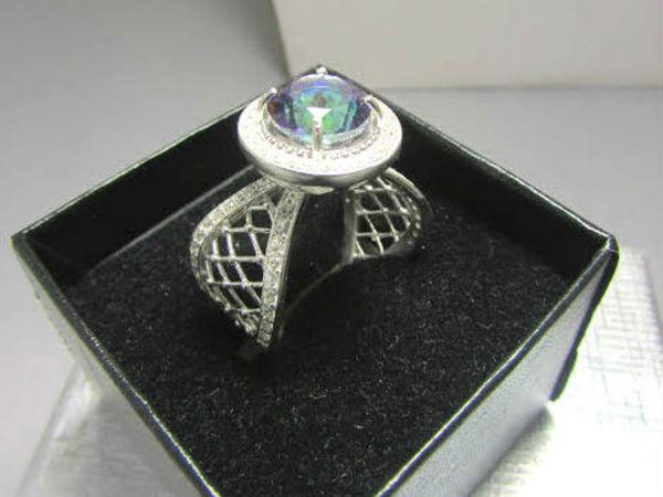 Новинка! Серебряное кольцо с мистик топазом! | Ярмарка Мастеров - ручная работа, handmade