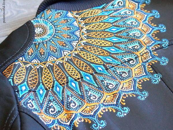 Расписываем контурами кожаную куртку, или Морозные узоры не только на окне   Ярмарка Мастеров - ручная работа, handmade