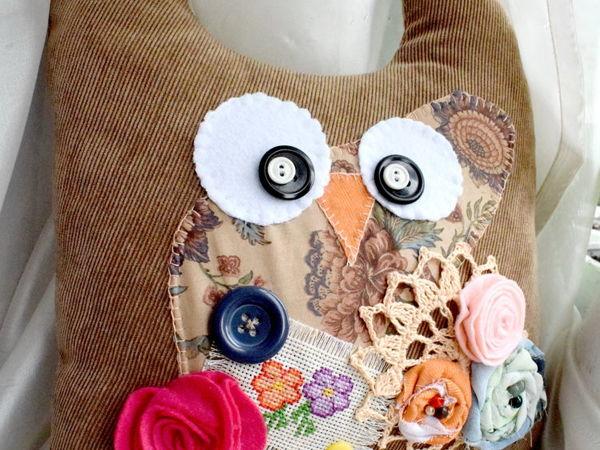 Шьем интерьерную игрушку-подушку «Совушка» | Ярмарка Мастеров - ручная работа, handmade