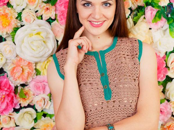 Готовимся к лету: ажурные вязаные блузки   Ярмарка Мастеров - ручная работа, handmade