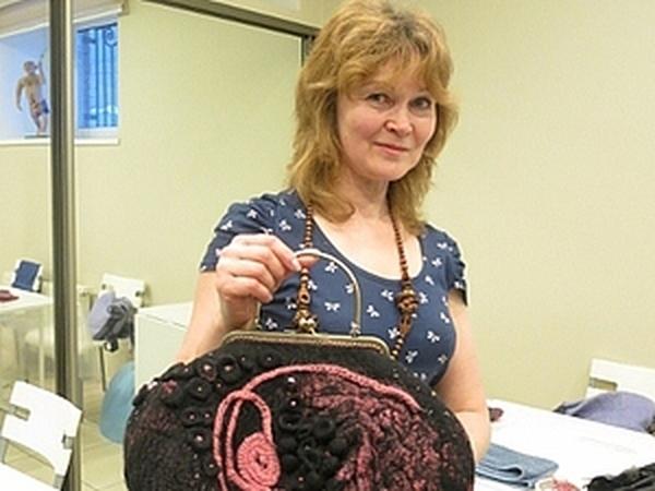 Фотоотчет по валянию сумки с мастером Ириной Бобковой. | Ярмарка Мастеров - ручная работа, handmade