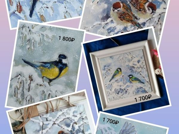 Распродажа картин с птичками!   Ярмарка Мастеров - ручная работа, handmade