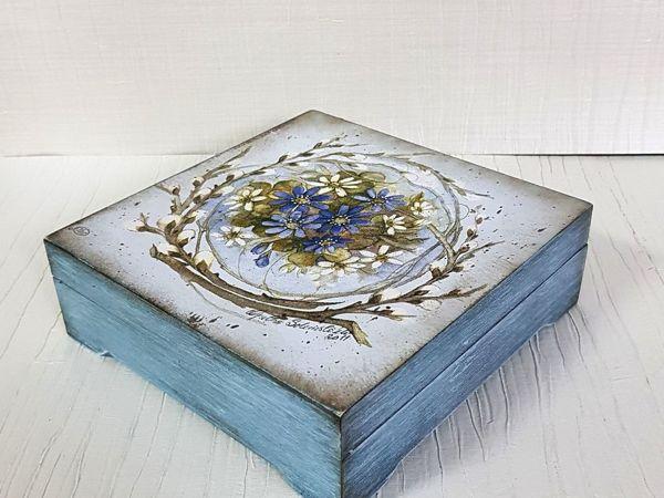 Декупаж для Начинающих, шкатулка с пудровым эффектом   Ярмарка Мастеров - ручная работа, handmade