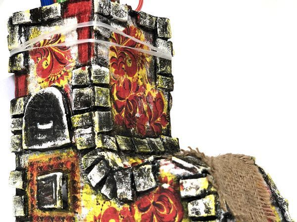 Создаем печку-карандашницу из картона | Ярмарка Мастеров - ручная работа, handmade