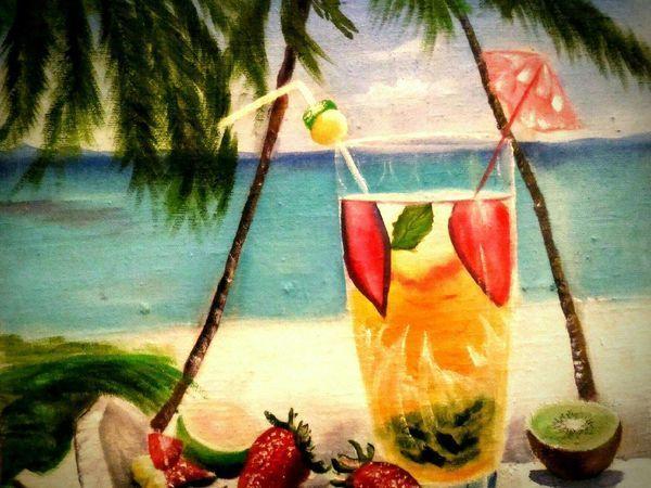 Пишем маслом тропический натюрморт | Ярмарка Мастеров - ручная работа, handmade