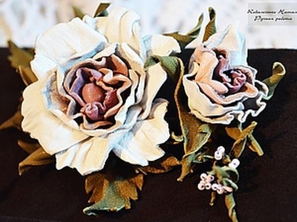 Как сделать розу из кожи | Ярмарка Мастеров - ручная работа, handmade