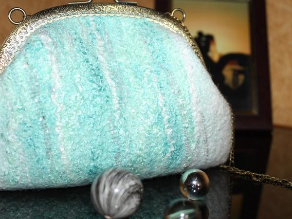 88b74a0a19d2 Мастер-класс по валянию свадебной сумочки с фермуаром | Ярмарка Мастеров - ручная  работа,
