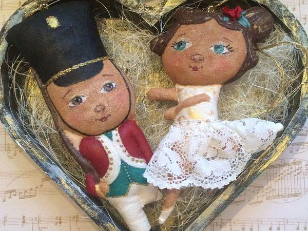 Новогодняя сказка на ёлку: создаем стойкого оловянного солдатика и прекрасную балерину | Ярмарка Мастеров - ручная работа, handmade