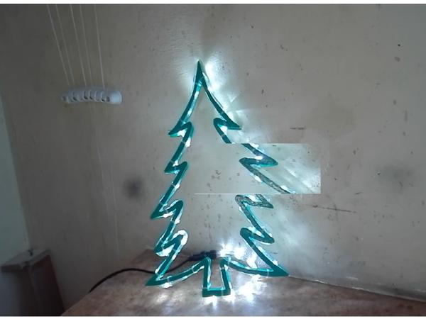 Делаем светодиодную ель в подарок для детского сада | Ярмарка Мастеров - ручная работа, handmade