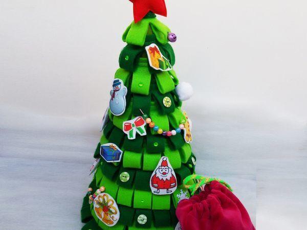 Делаем игровую новогоднюю елочку из фетра | Ярмарка Мастеров - ручная работа, handmade