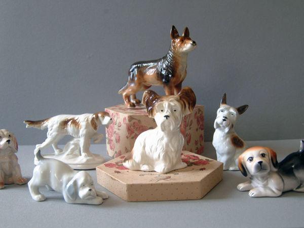 Набор статуэток Собаки разных пород | Ярмарка Мастеров - ручная работа, handmade