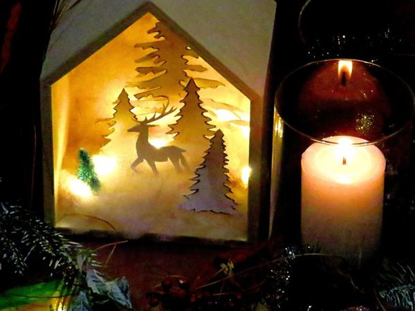Создаём Новогодний светильник из бумаги. Рождественский декор | Ярмарка Мастеров - ручная работа, handmade