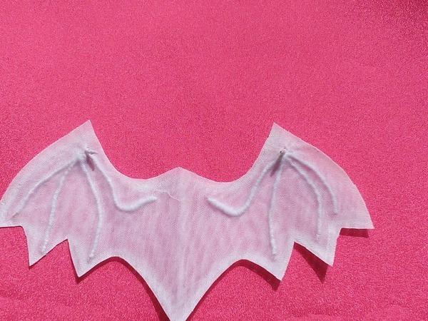 Создаем крылья летучей мышки из органзы и клеевой паутинки. Часть первая | Ярмарка Мастеров - ручная работа, handmade