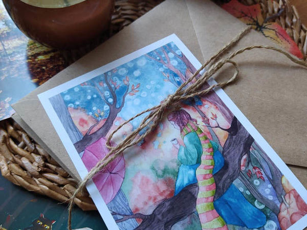 Проект  «Теплые октябрьские письма» | Ярмарка Мастеров - ручная работа, handmade