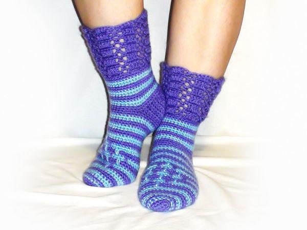 Как связать носки крючком без швов | Ярмарка Мастеров - ручная работа, handmade