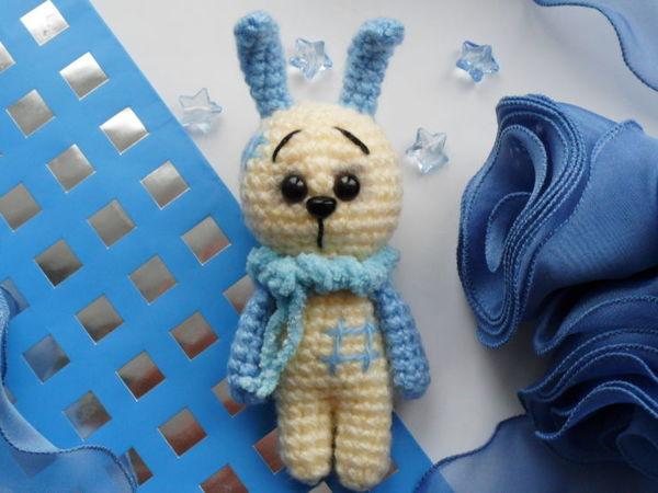 Мастер-класс: Милый зайка вязаный крючком | Ярмарка Мастеров - ручная работа, handmade