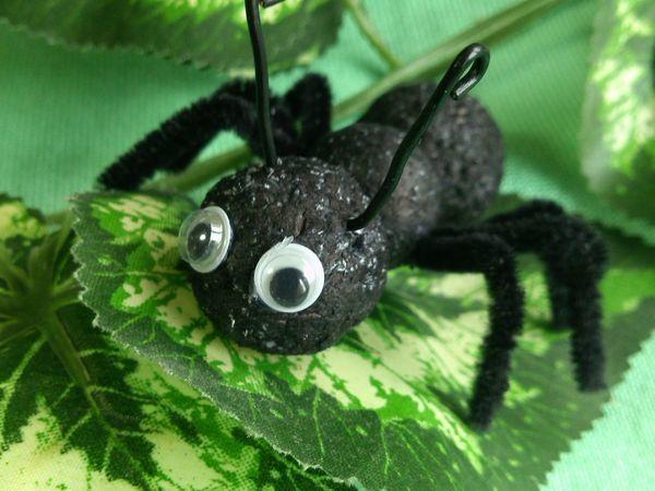Создаем муравья из пенопластовых шариков   Ярмарка Мастеров - ручная работа, handmade