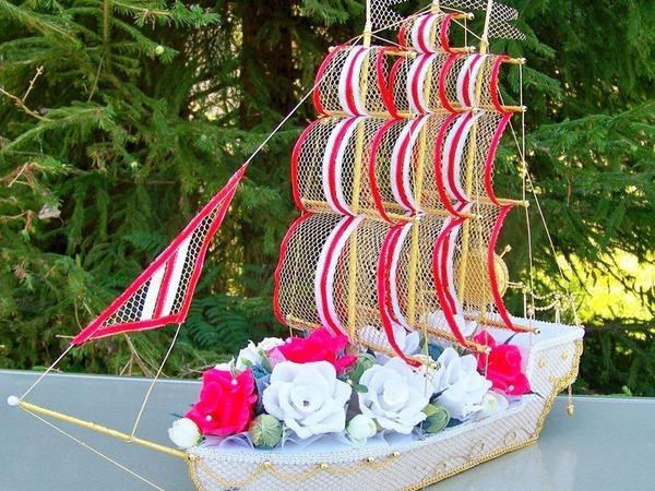 Мастер-класс: свадебный корабль из конфет | Ярмарка Мастеров - ручная работа, handmade