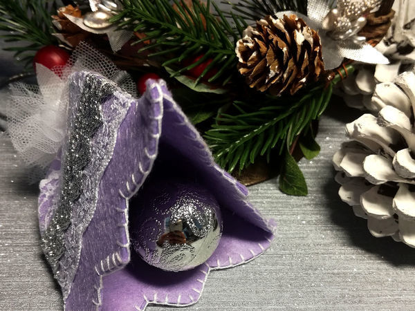 Создаем праздничный колокольчик из фетра | Ярмарка Мастеров - ручная работа, handmade