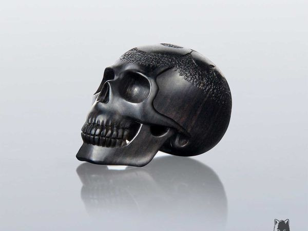 Carving a Wooden Skull Pendant or Bead | Livemaster - handmade