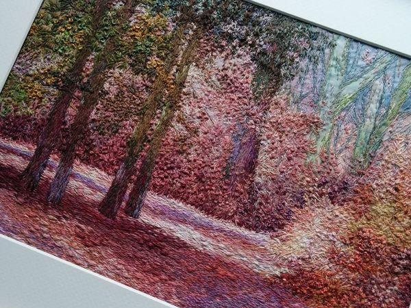 Вышивка картины «Розовый лес» | Ярмарка Мастеров - ручная работа, handmade