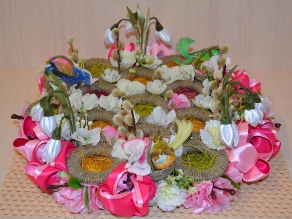 Пасхальная подставка для яиц из разделочной доски и мебельных ручек | Ярмарка Мастеров - ручная работа, handmade