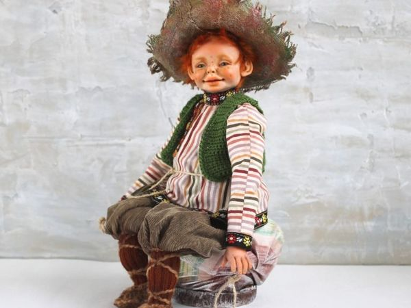 Домовёнок Рыжик | Ярмарка Мастеров - ручная работа, handmade
