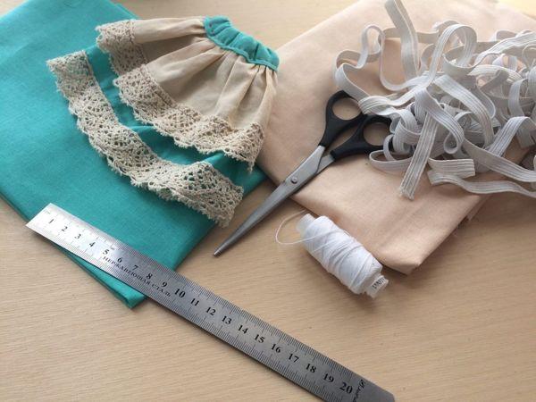 Шьем юбочку для куклы | Ярмарка Мастеров - ручная работа, handmade