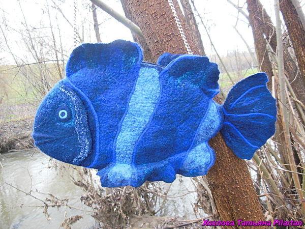 Сумочка  «Рыбка сапфировая» | Ярмарка Мастеров - ручная работа, handmade