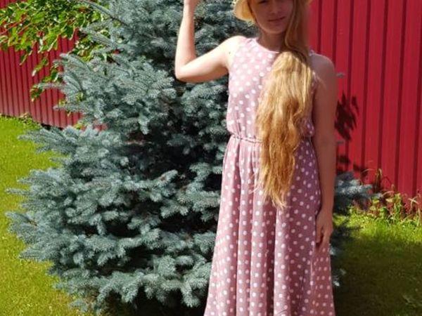 Платье в горошек из фильма «Красотка» своими руками | Ярмарка Мастеров - ручная работа, handmade