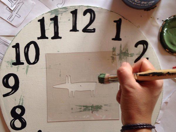 Как нарисовать циферблат без пластикового трафарета | Ярмарка Мастеров - ручная работа, handmade