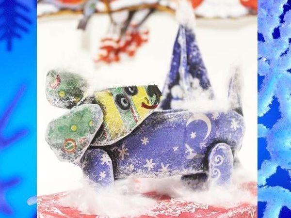 Украшаем новогодний сюрприз забавными собачками из картона | Ярмарка Мастеров - ручная работа, handmade