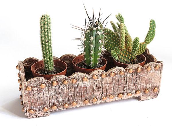 Делаем ящик-кашпо из картона | Ярмарка Мастеров - ручная работа, handmade