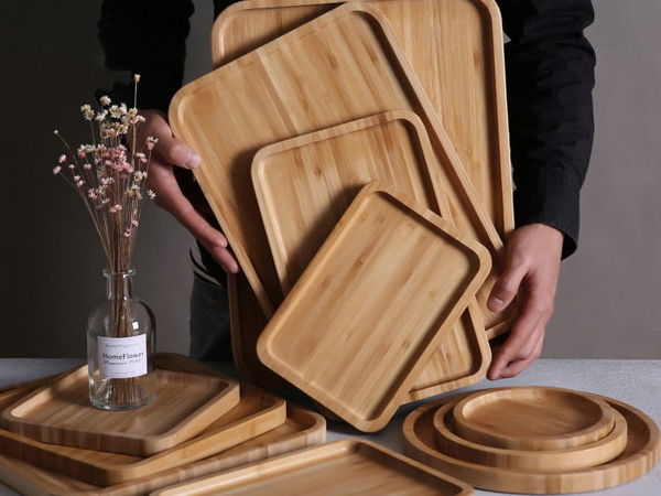 Размеры и фото подносов из бамбука | Ярмарка Мастеров - ручная работа, handmade